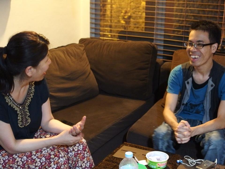 フィリピン留学夕食後のTalk Time