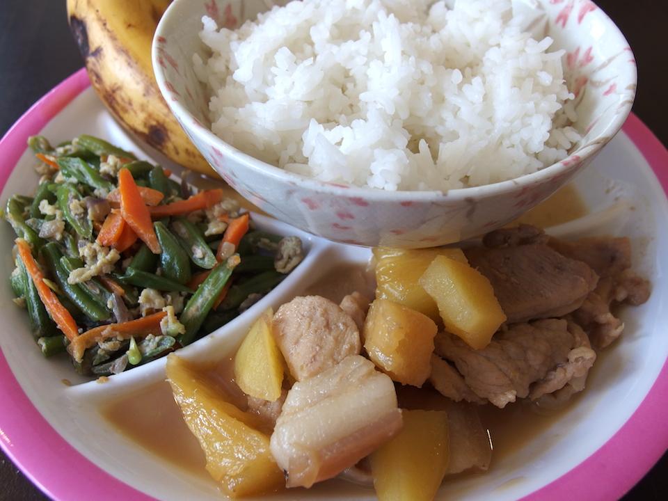 豚肉とパイナップル