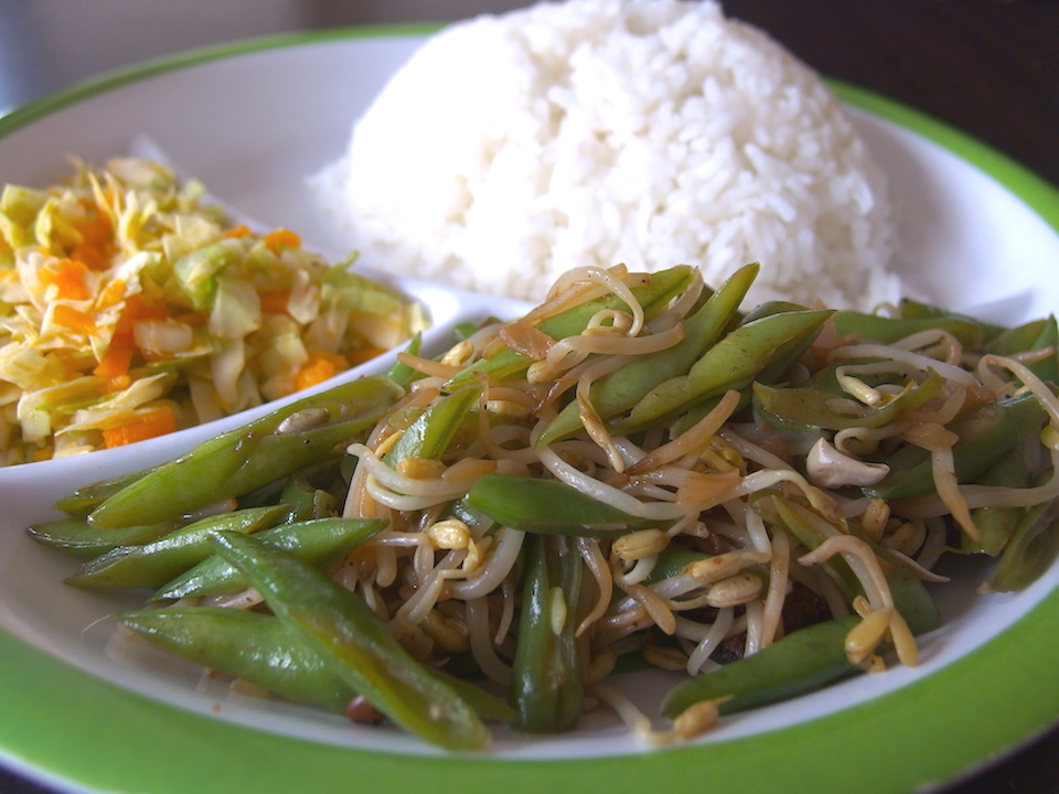 野菜多めなヘルシーランチ