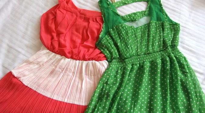フィリピンのモールで可愛いワンピース購入。スゴイ安いけど縫製は雑です。