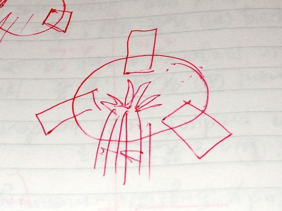 ココナッツオイルの作り方のイラストを描いた