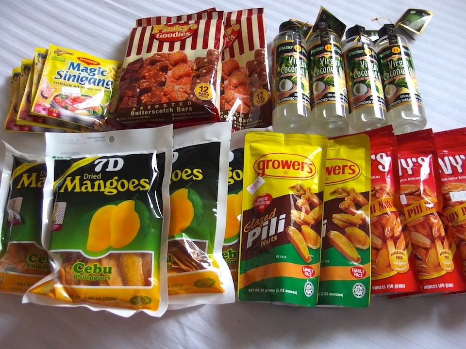 フィリピン土産にドライマンゴーやピリナッツを
